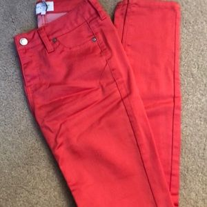 Celebrity Pink coral skinny jeggings size 1
